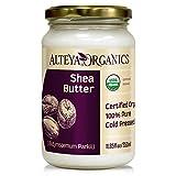 Alteya Bio Sheabutter 350ml – 100% USDA Organic-zertifiziert Rein Natürlich Raffinierte Sheabutter (Butyrospermum Parkii)