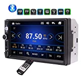Schermo da 7 pollici HD auto Bluetooth MP5 Player TFT di tocco capacitivo video radiofonico FM TF USB ingresso Aux pulsanti colorati stereo dell'automobile Musica Entertainment System con telecomando in plancia mp3 MP4 Riproduzione di carica per i telefoni