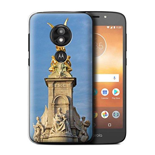 Stuff4® Hülle/Case für Motorola Moto E5 Play/Victoria-Denkmal Muster/Seiten London Kollektion