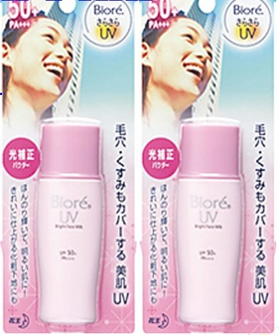 2-kao-biore-uv-protect-bright-sunblock-pink-face-milk-spf-50-sunscreen-lotion-free-shipping-world-wi