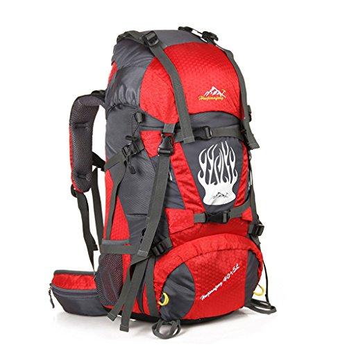 Outdoor-Klettern Tasche mit großer Kapazität Outdoor-Camping-Wander-Rucksack Rot