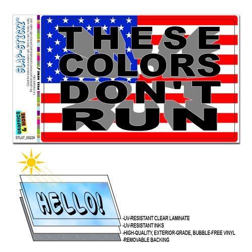 Diese Farben Don't Run-Vereinigten Staaten von Amerika USA-Flagge, mit Aufschrift