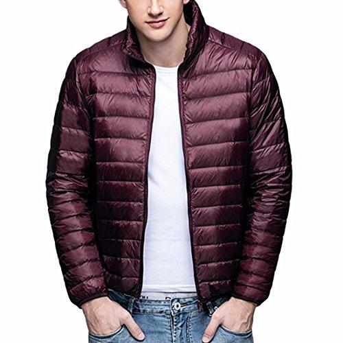 Men's Down jacket,Ultralight Down Padded Jacket Body Warmer S-3XL Packable Down Puffer Coat,Water-resistant (Ultralight Down Jacket)
