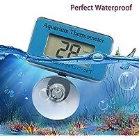 Songway Termometro Digitale dell'acquario del Mini Acquario Termometro Digitale dell'acquario, utilizzato in Acquario Serbatoio per Pesci o Scatola per l'alimentazione del Rettile con Ventosa