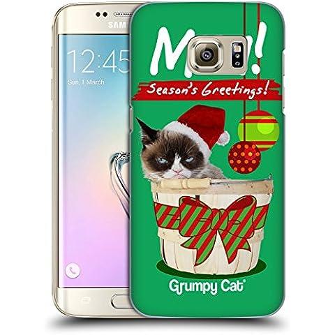 Ufficiale Grumpy Cat Saluti Natalizi Natale Cover Retro Rigida per Samsung Galaxy S7 edge - Saluto Edge Design