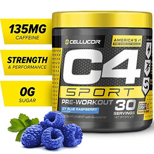 Cellucor C4 Sport - Pre-Workout-Pulver für Flüssigkeits- & Energiezufuhr - Blue Raspberry (Himbeere) - 30 Portionen