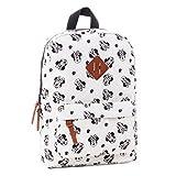 Minnie [Q1233] - Kreativer rucksack 'Minnie' weiß schwarz - 34x23x13 cm.