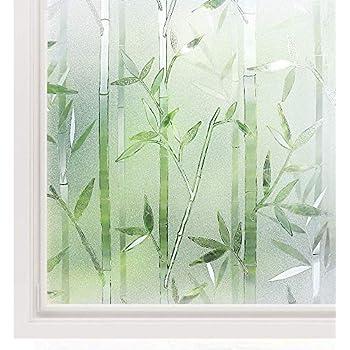 rabbitgoo film pour vitre a motif film adh sif pour fen tre d coratif anti uv 200cm. Black Bedroom Furniture Sets. Home Design Ideas