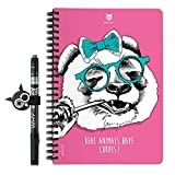 Whynote Carnet de Notes A5 - Le Cahier de Notes reutilisable à l'infini (Panda, Pages Blanches)