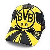 WEII Fußball Fan Baseball Cap Fußball Club Sonnenhut Outdoor Sports Sunhat,Dortmund,Einheitsgröße
