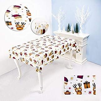 21sandwhick Mantel, Mantel Feliz Navidad Impermeable PVC Mesa De Comedor Cubierta Decoración De Tela siNone