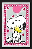 Peanuts Snoopy Spiegel–Snoopy mit Woodstock & Herzen–30cm x 20cm
