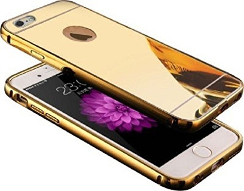 K/B Luxury Metal Bumper with Acrylic Mirror Back Case for APPLE IPHONE 5S (Gold)  available at amazon for Rs.199
