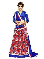 KMOZI Silk Lehenga Choli (NVT-01K_Blue_Free Size )
