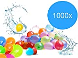 TK Gruppe Timo Klingler XXL 1000 Stück Wasserbomben Ballon Wasserbombe Füllstation Wasserspielzeug für Kinder Jungen und Mädchen
