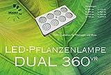 LED-Pflanzenlampe Dual 360VR Vollspektrum für Blüte- und Ertragspflanzen für bis zu 5,4m² Beleuchtungsfläche