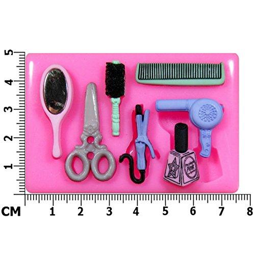 Friseur Schönheit Salon Silikon Form für Kuchen Dekorieren, Kuchen, kleiner Kuchen Toppers, Zuckerglasur Sugarcraft Werkzeug durch Fairie - Halloween-bend-oder