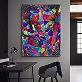YB Colore Corpo Umano Astratto Camera da Letto Soggiorno Hotel Ufficio Decorazione Pittura Pittura a Olio Arte Tela Pittura Nucleo, 40x60cm