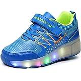 Zapatillas con ruedas automáticas y luces LED para niños - Azul - Varias tallas