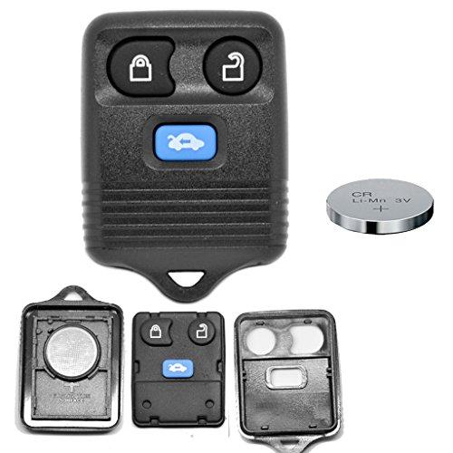 Auto-batterie Ford Expedition Mit (Auto Schlüssel Funk Fernbedienung 1x Gehäuse 3 Tasten + 1x CR2032 Batterie für Ford)
