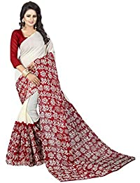 Macube Women's Bhagalpuri Silk Saree With Blouse Piece (Ms1467_Bhagalpuri Silk_Saree_Multi Coloured)