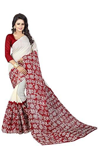 Macube Women's Bhagalpuri Silk saree with blouse piece