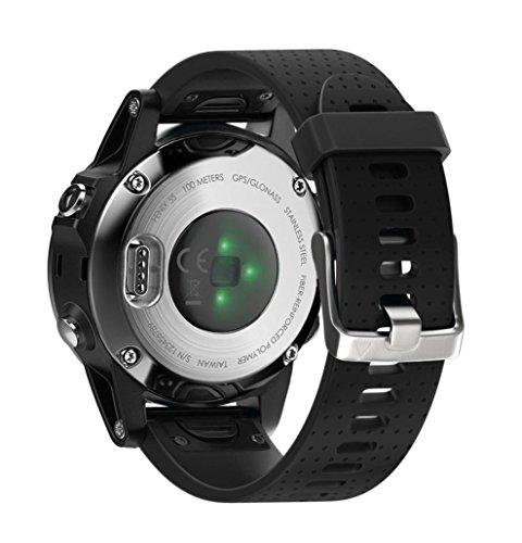 Magiyard Bracelet de rechange à installation rapide en silicone pour montre Garmin Fenix 5S S noir