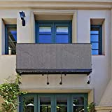 Écran de confidentialité pour Le Balcon longdafei, écran de Balcon 90x500cm Protection Contre Les UV Couvercle de clôture en Tissu résistant aux intempéries avec Attaches de câble...