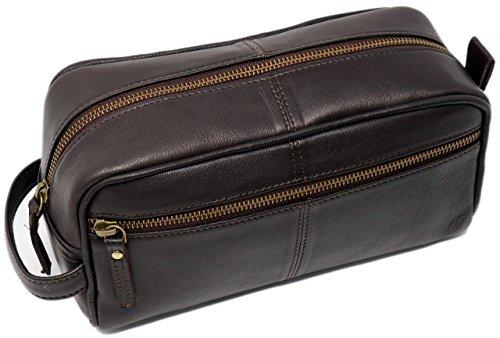 Genuine leather Toiletry Bag for Men travel kit dopp kit Groomsmen Shaving Kit Brother Gift For Boyfriend Gift For Husband Gift Father Gift For Men (Badezimmer-zubehör-kit-bronze)