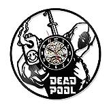 Klassische H?hle Deadpool Film Vinyl Record Uhr Home Zimmer Art Decor Handmade Vintage h?ngenden Wand LED Uhr