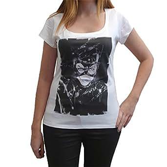 Catwoman T-shirt Femme imprimŽ cŽlŽbritŽ - Blanc, XS