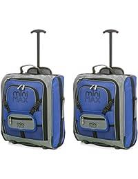 MiniMax Bagage Cabine Valise Enfant Trolley Sac à Dos avec Pochette pour Votre Jouets/Poupées/ Nounours