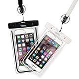 EOTW 2 Stück Wasserdichte Handy Hülle, Wasser- und staubdichte Hülle für iPhone, Samsung, Nexus, HTC und mehr, Super Hülle für den Strand und Wassersport (Schwarz+Weiß)