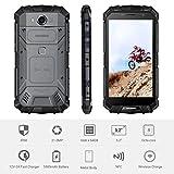 Telephone Portable Debloqué - DOOGEE BL12000 Batterie 12000mAh- 6.0'FHD+(18: 9) - Dual SIM Smartphone Android 4G - Octa-Core 4Go + 32Go - Caméra Quadruple (Wider Angle) - Fond en verre - Charge Rapide - Noir