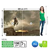 Wallsticker Warehouse Motocross Canyon FOTOTAPETE FOTOTAPETEN WANDBILD