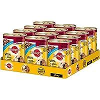 Pedigree Hundefutter Nassfutter 3 Sorten Rind, Lamm, Huhn, 12 Dosen (12 x 400 g)