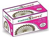 Parth Impex Spille di Sicurezza Extra Large in Confezione da 100, 50 mm, per Cucire, Placcate in Nichel Lucido