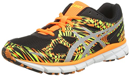 Asics Gel-lightplay 2 Gs, Chaussures de Running Entrainement Mixte adulte Noir (Black/Silver/Flash Orange 9093)