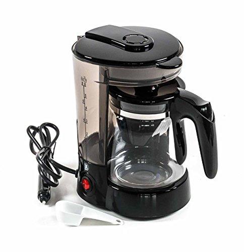 Kaffeemaschine 24 Volt 300 Watt, für 6 Tassen mit Warmhaltefunktion, Glaskanne, Dauerfilter, Messlöffel