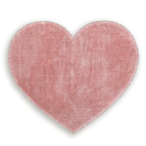 ROLLER Kunstfell-Teppich Lambskin - rosa - Herz - 70x80 cm -