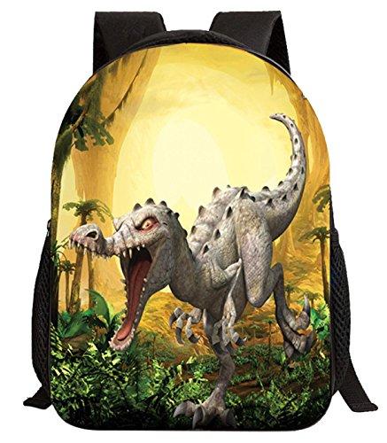 Imagen de happy cherry 3d animal  dinosaurio estampado bolso infantil para niños niñas escuela guardería, patrón 5