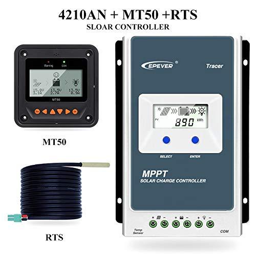 EPEVER MPPT Solar Ladegerät Tracer AN Serie 10A/20A/30A/40A mit 12V/24V DC Automatische Identifizierung Systemspannung(40A+MT50)