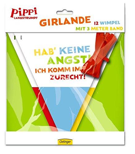 Preisvergleich Produktbild Wimpelkette * PIPPI LANGSTRUMPF * zur Dekoration bei Kindergeburtstag und Motto-Party // Kinder Girlande Deko Pipi