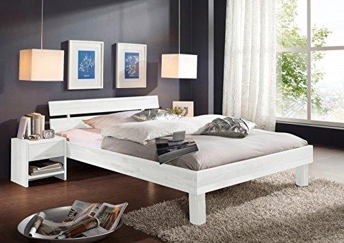 SAM® Massiv-Holzbett Columbia in Buche weiß, Bett mit gebraucht kaufen  Wird an jeden Ort in Deutschland