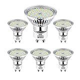 GU10 LED Warmweiss, Wowatt 6er LED GU10 Lampe 5W 230V ersetzt 40W 35W 30W 25W 20W GU10 Halogenlampe 420lm Warmweiß 2800K AC 220V-240V 120° Abstrahwinkel LED Birnen LED Leuchtmittel