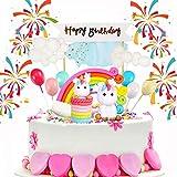 a ray of sunshine Kuchendeckel für Baby,Tier Kuchendeckel Topper ,mit Einhorn Kuchen Dekoration ,Geburtstag Kuchen Regenbogen,Einhorn Cake Topper ,Einhorn Tortendeko