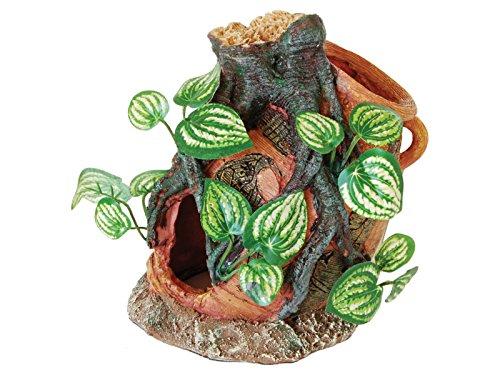 repstyle Ruin Vase und Wurzel mit Seide Pflanze Aquarium Ornament