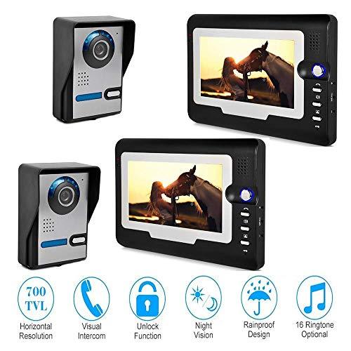 Intelligente 7-Zoll-Video-Türklingel-Gegensprechanlage mit HD-Infrarotkamera,2/2 Intercom-außeneinheit