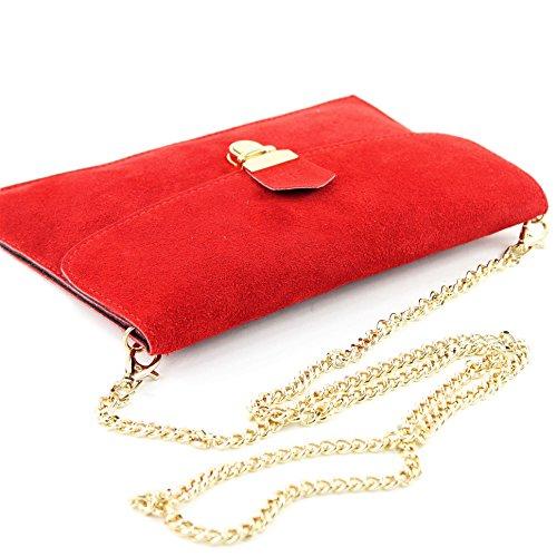 modamoda de -. ital Borsa scamosciata frizione borsa borsa borsa da sera Città T206 Rot
