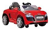 ROLLPLAY Ma Première Voiture Électrique, Conduite Facile, À partir de 1,5 Ans, Jusqu'à 25 kg, Batterie 6 Volts, Jusqu'à 2 km/h, Audi R8 Spyder EZ Drive, Rouge